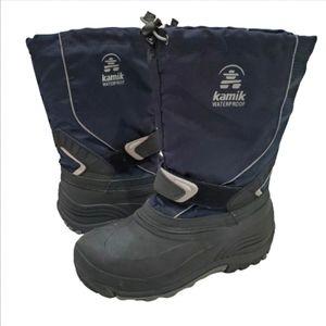 Kamik Navy Waterproof Winter Boots, 6